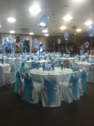quinceanera cinderella theme tabletop centerpieces balloons at it s my party