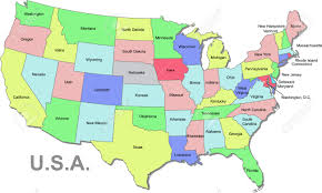Indiana Usa Map by Color U S A Map With States Over White Royalty Free Cliparts
