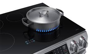samsung slide in stainless steel induction range 5 8 cu ft