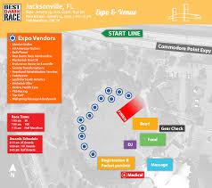 Jacksonville Fl Map Health U0026 Fitness Expo Best Damn Race Jacksonville Fl