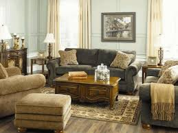 Gold Fabric Sofa Country Style Living Room Sets Grey Wool Arms Sofa Sets Red Fabric