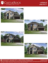 calculate house square footage laguna ii gold home plan by castlerock communities in oak creek