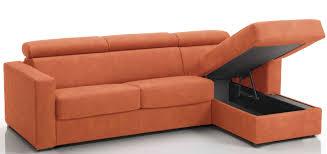 canap convertible orange canapé d angle convertible avec têtières revêtement microfibre