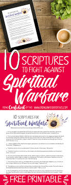 spiritual warfare verses that pack a punch being confident of this