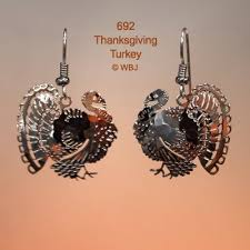 thanksgiving turkey earrings bryde nature jewelry designs