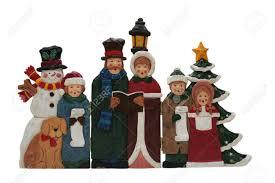 decoration family singing carols stock photo