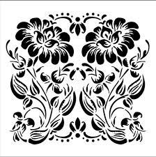 buy the folkart laser cut small stencil ornamental flower at