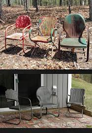 How To Paint Metal Patio Furniture How To Paint Old And Rusty Metal Outdoor Chairs Hometalk