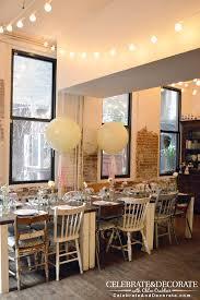 kitchen string lights a boho bridal shower in new york city celebrate u0026 decorate