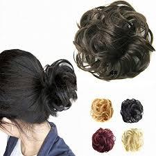hair bun donut feshfen hair extensions wavy curly hair bun extensions donut
