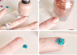 floral nails diy real dried flowers manicure love maegan