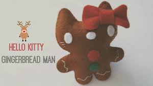 how to make a hello kitty gingerbread man ornament plushie