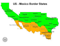 map of mexico with states map us states bordering mexico maps of usa