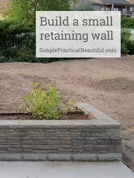 Building A Raised Patio With Retaining Wall by A Small Retaining Wall Small Retaining Wall Retaining Walls And