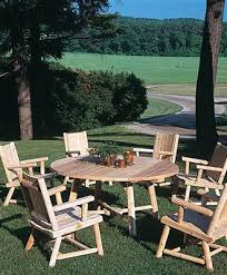 Log Outdoor Furniture by Rustic Log Furniture From Walpole Woodworkers