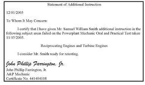 Certification Letter Of Endorsement Sample Order 8900 2 General Aviation Airman Designee Handbook Chg 1
