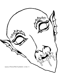 halloween vampire coloring pages vampire mask coloring page