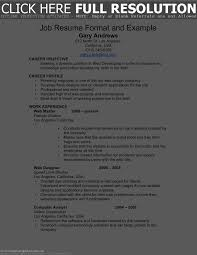 Simple Job Resume Template Sample Simple Job Resume Template Resume For Study