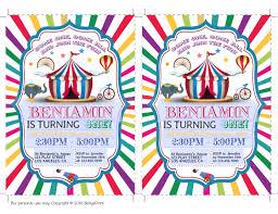 circus birthday invitation circus party invitation circus party