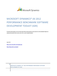 microsoft dynamics ax 2012 performance benchmark sdk 1