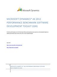 microsoft dynamics ax 2012 performance benchmark sdk 1