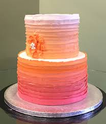 ombre ribbon country ribbon ombre tiered cake girl cupcakes