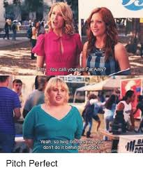 Pitch Perfect Meme - m you call yourself fat amy yeah so twig bitches like y don t do