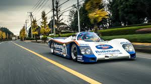 old porsche race car on the road in a porsche 962 le mans car top gear