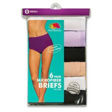halloween underwear fruit of the loom women u0027s 6 pack microfiber brief panties