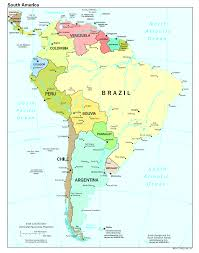 Maps South America by Political Map Of The South America South America U2014 Planetolog Com
