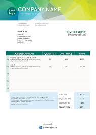 free indesign invoice templates invoiceberry