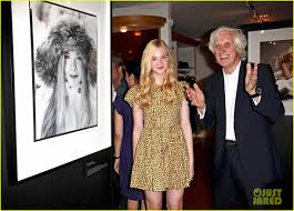 elle fanning attends the douglas kirkland photo exhibition