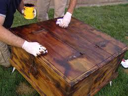 Rustic Wood Furniture Diy Giving Furniture A Chic Rustic Look Hgtv