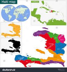 Haiti Map Map Republic Haiti Departments Cities Stock Vector 166957541