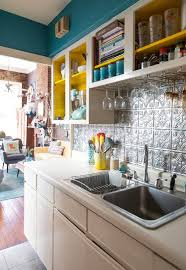 cheap kitchen backsplash a fun french quarter apartment tin ceilings french quarter and