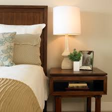 Height Of Bedside Table How To Choose A Lamp And The Right Size Lampshade