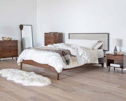 bedroom mid century white wooden desk oak flooring danish teak
