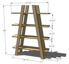 Leaning Bookshelf Woodworking Plans by Best 25 Ladder Shelf Desk Ideas On Pinterest Ladder Shelves