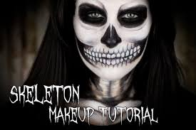 Halloween Skeleton Face Makeup by Halloween Skeleton Makeup Tutorial Youtube