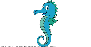 seahorse coloring games and coloring pages