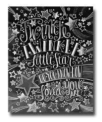 Twinkle Little Star Nursery Decor Twinkle Twinkle Little Star Chalk Art Chalkboard Art Baby