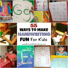 mom to 2 posh lil divas 55 ways to make handwriting practice fun