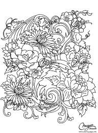 drawing flower coloring pages printable