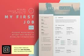 My First Job Resume by August Cv Resume Psd Word Doc Resume Templates Creative Market