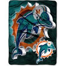 nfl dolphins 60x80 micro raschel blanket walmart com