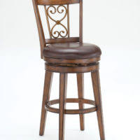 Wood Bar Stool With Back Furniture Wrought Iron Swivel Bar Stool With Carved Back And
