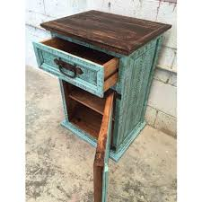Rustic Pine Nightstand Turquoise Rustic Pine Night Stand Rustic Furniture Outlet