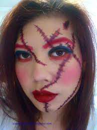 Chucky Makeup For Halloween by Chucky Inspired Halloween Makeup Look Black Blue Blizzard By