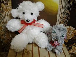 Bear Rug For Kids by How To Make A Pom Pom And A Teddy Bear Out Of Pom Pom Youtube