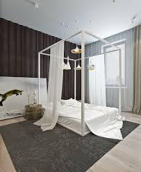 Modern Canopy Bed Frame Modern Canopy Bed With Wooden Frame And Low Bedroom On Gray Rug